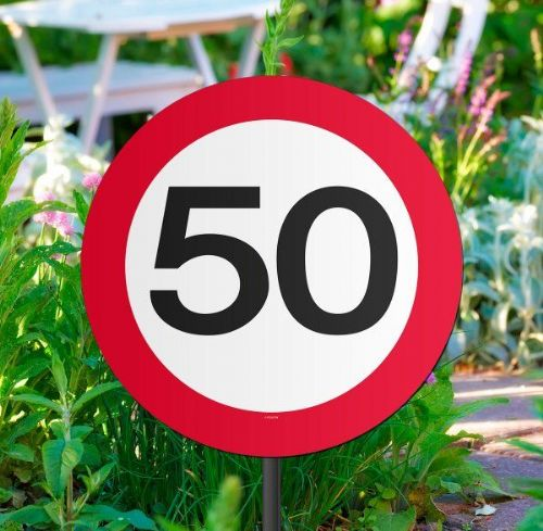 Traffic Sign 50th Party Garden Sign Birthday Decoration